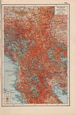 1920 MAP -WORLD WAR 1- SERBIA 1914-1915