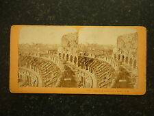 Stereoview Nice Early Image The Interior Du Colisee A Rome - J.A. Card No 907