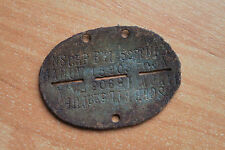 WW2 Original RARE ID dog tag TURK FRW !!!