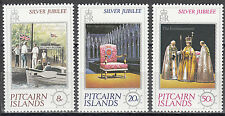 Pitcairn Islands  Nr. 160-162** Silver Jubilee of Queen Elizabeth II.
