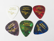 YNGWIE MALMSTEEN signature stamped gold printed plectrum guitar picks 0.71mm x6