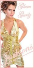 PRECIOUS FORMALS GLAM GURLZ NEW 2 GOLD PROM PARTY COCKTAIL CRUISE TALENT DRESS