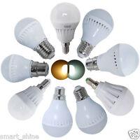1/3/6/12x B22 BC E27 ES E14 SES 3W 5W 7W LED SMD Globe Bulbs Ball Light Bulb New