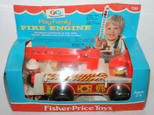 1968 #720 Fisher-Price Fire Engine SEALED IN BOX CELLOPHANE Boxed Little People
