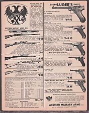 1964 LUGER Parabellum Portugese Mauser & Army Pistol Western Military Arms AD