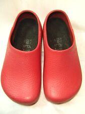 Birki's by Birkenstock 230  Clogs / Slide  Womens Size 5, Euro 35/36 Red EUC #JS