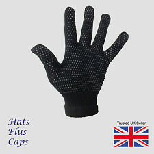 1 Pair black Gripper thermal one size stretch magic driving gloves men womens