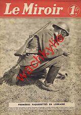 Le miroir n°33 du 14/04/1940 paquerette casque de France football
