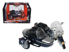2001 HARLEY DAVIDSON FLHRC ROAD KING CLASSIC BLACK W/SIDE CAR 1/18 MAISTO 76200