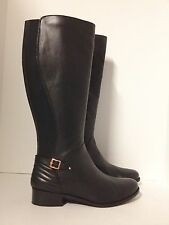 NEW! Long Tall Sally Barefoot Tess Nash Leather Stretch Boots - (Size: 12)