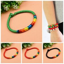 Stylish Colorful Woven Rope Friendship Bracelet Braided Hippie Bangle Wristband