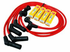 VMS 86-92 MAZDA RX7 FC3S 10.2MM SPARK WIRES & NGK PLATINUM PLUGS COMBO KIT RED