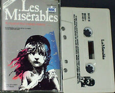 ORIGINAL LONDON CAST Les Misérables CASSETTE US ISSUE RELATIVITY LABEL