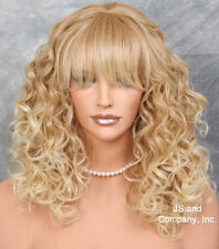 Medium Curly Strawberry Blonde MIx Adorable Curly HEAT SAFE WIG JSMG 27/613