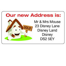 Personalised New House Home We are Moving Address Labels Stickers -ref 092