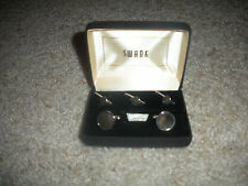VINTAGE SWANK MOTHER OF PEARL TUXEDO CUFF LINKS & STUDS-NEW IN BOX-FATHER'S DAY