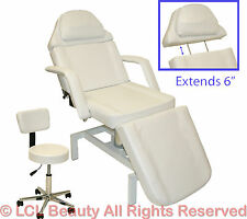 Brand New White Hydraulic Facial Table Bed Chair Spa Beauty Salon Spa Equipment