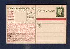 16 Netherlands Railway Postal Stationery Card from collection  1948 Hartz