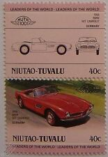 1958 BMW 507 CABRIOLET Car Stamps (Leaders of the World / Auto 100)