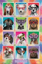 PUPPIES IN SUNGLASSES - KIMBERLIN POSTER - 22x34 CUTE DOGS PUPPY 14919