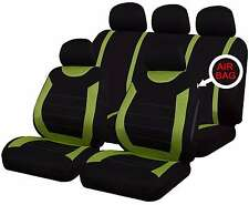 9 PCE Oxford Green / Black Full Set of Heavy Duty Car /Taxi Auto Seat Covers