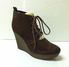Diesel Enos Ankle Lace Up Boots Suede Leather Solid Brown Mustang Size 9 Medium