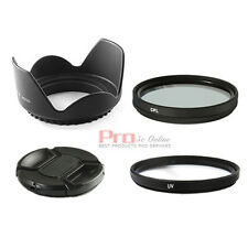 52mm UV CPL Filter Lens Hood Cap Set FOR nikon d3100 d5100 d3200 canon sigma UK