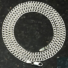 "Curb 080-30"" 3mm Heavy 11.6 Gram Italian Link .925 Sterling Silver Chain 30"""