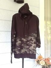 MARC ECKO Cut & Sew Signature Black Camo Hoodie Sweater Jacket Cotton L Logo $68