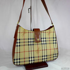 Vintage Burberry Haymarket Medium Shoulder Handbag Purse Very Good Condition