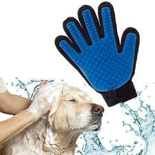 Cleaning Brush Magic Glove Massage Hair Removal Groomer for  Pet Dog Cat Blue