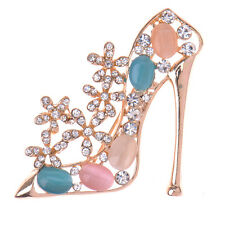 Wedding Bridal Rhinestone crystal brooches colorful High-heeled Shoes shape NEW