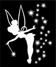 TINKERBELL CAR TRUCK WAND SILHOUETTE VINYL STICKER DECAL PRINCESS