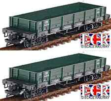 2, A PAIR G SCALE RAILWAY FLAT BED TRUCK GREEN FREIGHT GARDEN TRAIN LGB BACHMANN