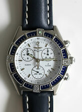 BREITLING CHRONOGRAPH J-CLASS IN PRISTINE CONDITION WITH NEW BLUE LEATHER STRAP