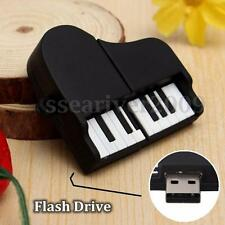 32GB USB 2.0 Black Mini Piano Model Flash Memory Stick Pen Drive U Disk Gifts