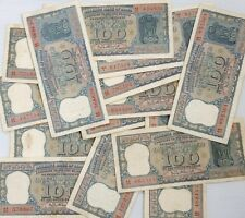 India - 100rs - G24 - Bhattacharya diamond issue  - used note