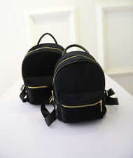 Black Suede Backpack Zipper Handbag Fashion Satchel Best SaleSchool Bag Small