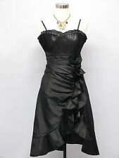 Cherlone Black Prom Ball Evening Bridesmaid Wedding Formal Gown Dress Size 16-18