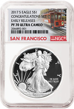 2017 S Silver Eagle From Congratulations Set Early Releases NGC PF70 Ultra Cameo