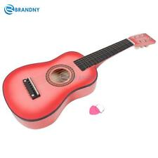 "Leadzm 23"" Beginners Practice Acoustic Guitar Pick 6 String Children Kids Pink"