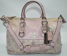 Coach Madison Sabrina Op Art Lilac Convertible Satchel Purse Patent Trim 12947