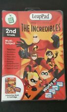 LeapPad, Disney Pixar The Incredibles 2nd grade book & Cartridge multi-subject