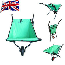 UK Garden Folding Wheel Barrow Lightweight Trolley Wheelbarrow Max Load 50kg