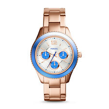 "Fossil ES3775 ""Stella"" Multi-Function Day and Date Display Rose-Gold-Tone Watch"