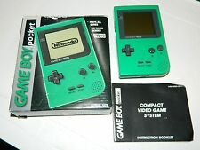 Nintendo Game Boy Pocket Green Handheld System GBP **COMPLETE IN BOX**