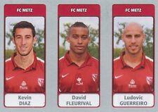 N°596 KEVIN DIAZ - FLEURIVAL - GUERREIRO # FC.METZ STICKER PANINI FOOT 2012