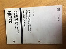 CASE INTERNATIONAL 7100 TRACTOR IMPLEMENTS OPERATOR MANUAL USED