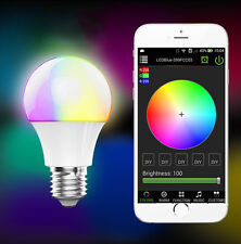 E27 Bluetooth Smart IOS Android App Control Lamp Wireless LED Light 4.5W Bulb