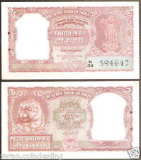 2 Rupees India H.V.R. IYENGAR Red Tiger Bust @ Uncirculated Condition ( B-4 )